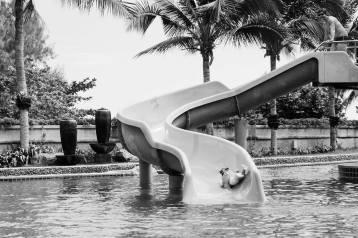 Everyone loved the swirly slide